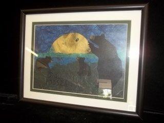 45: Signed Bear Print