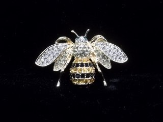 6: Rhinestone Bee Brooch