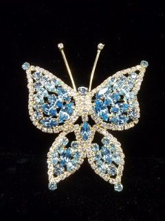 7: Blue Ice Butterfly Brooch