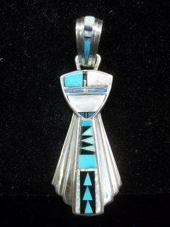 220: Robert Kelly Navajo Silver Turquiose Pendant