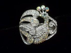 Peacock Rhinestone Bracelet