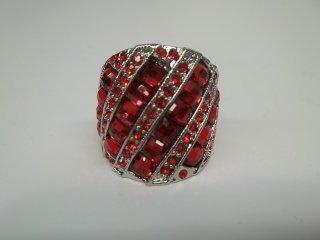 28: Ruby Red Rhinestone Ring