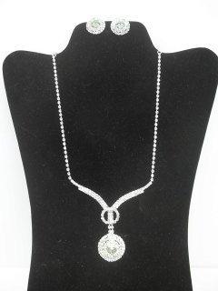 29: Nice Rhinestone Necklace Earings