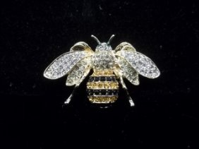 Rhinestone Bee Pin