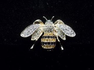 39: Rhinestone Bee Pin