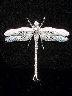 42: Rhinestone Dragonfly brooch