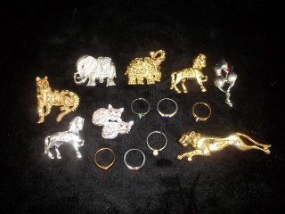 1: Nice Brooch & Costume Ring Lot