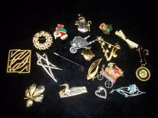 16: Brooches & Pins Lot