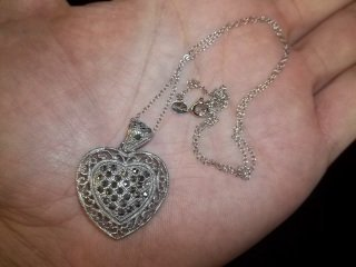 14: Sterling Silver Heart Necklace