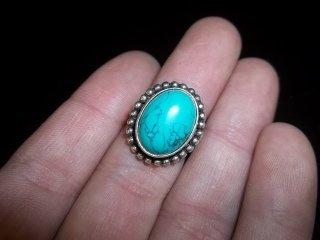 17: Sterling Silver Turquiose Ring