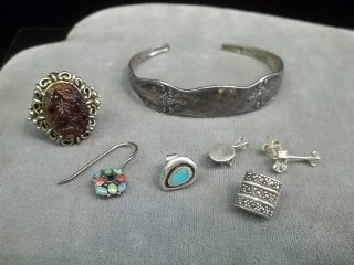23: Spoon Bracelet & Ring Lot with Sterling SILVER
