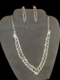 3: Rhinestone Necklace & Earings