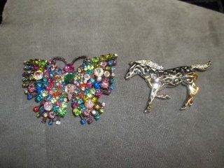7: Horse & Butterfly Brooch