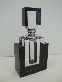 221: 5 inch Contemporary Art Deco Crystal Perfume