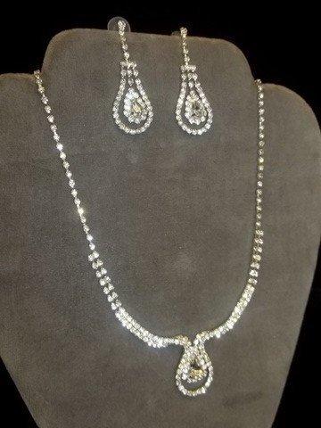13: Rhinestone Necklace Earing Set