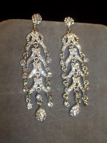14: Rhinestone Chandelier Earrings