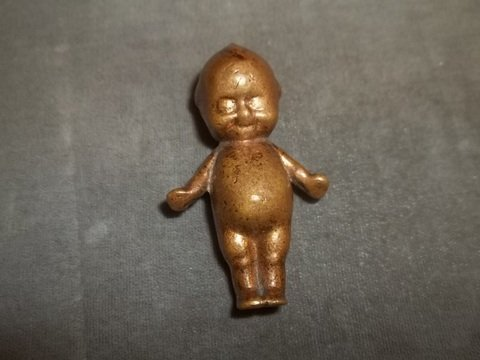 4: Old Brass Baby Figure 2 inch