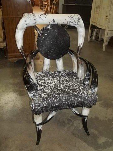 196: Texas Longhorn & Hide Chair