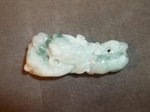 "9: Oriental Jade Dragon Pendant 2"""