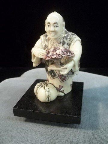 """12: Oriental Figure w/Bonzai Tree 3"""""""