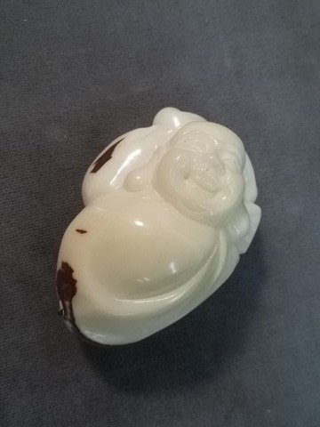 "13: Oriental Ivory Nut Buddah Pendant 2"""