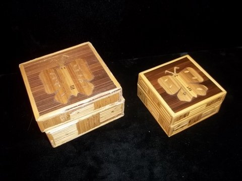 """20: 2 Wood Butterfly Boxes 3"""""""