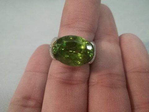 10: Sterling Silver Gemstone Ring