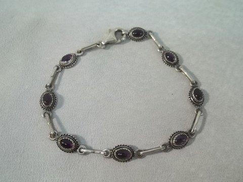 11: Sterling Silver gemstone bracelet