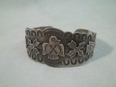 15: Native American Sterling Silver Bracelet
