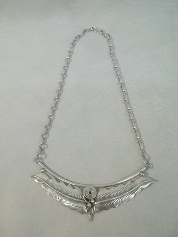 21: Native American Sterling Necklace HEAVY
