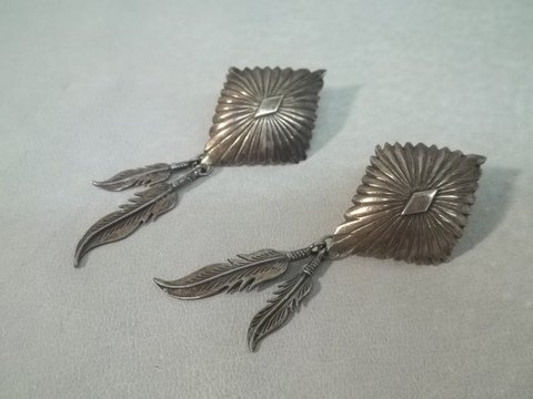 22: Native American Sterling Silver Earrings