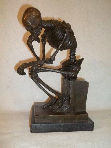 Milo Thinking Skeleton Bronze