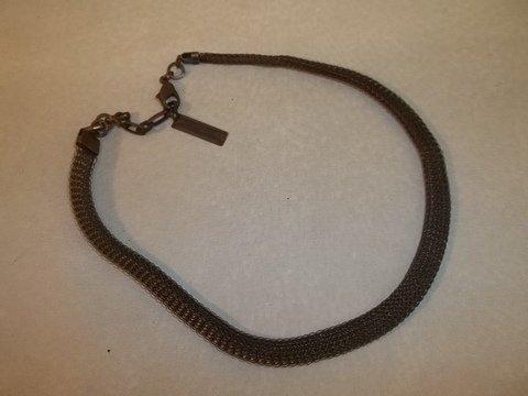 Designer Vint Jan Michaels Bronze Mesh Necklace