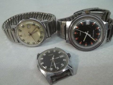 3 Vintage Timex Watches