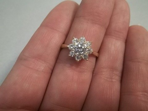7: White Topaz Starburst Ring