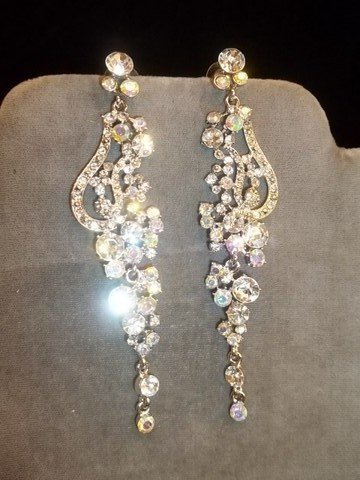 20: Rhinestone Chandelier Earrings