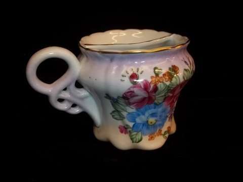4: Limoges Mustache Cup Hand Painted