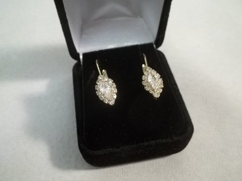 12: White Sapphire Earrings