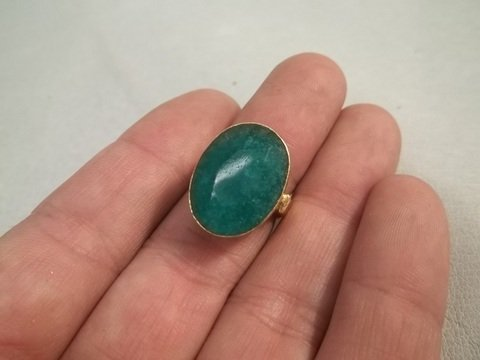 16: Genuine Emerald Ring