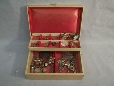 1: Old Jewelry Box Full of Jewelry