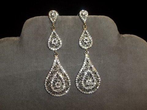 7: Teardrop Rhinestone Earrings