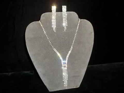 8: Rhinestone Necklace & Earrings