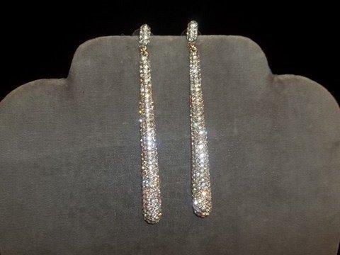 10: Rhinestone icycle Earrings
