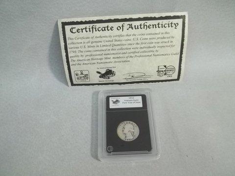 18: 1932 US Silver Quarter