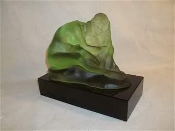 311: Rougleff Lady With Locks Pate De Vera Statue Nude