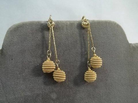 14: Vintage Bee Hive Trifari Earrings