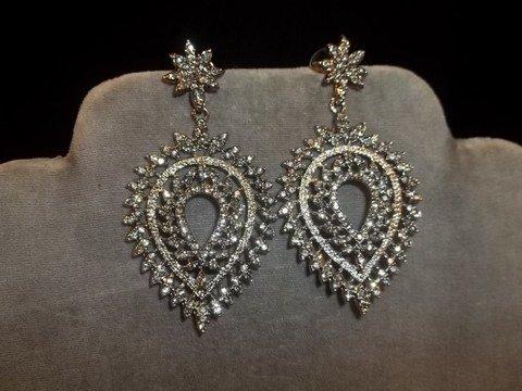 22: Rhinestone Earrings
