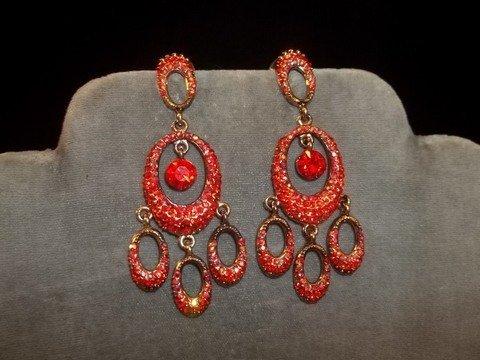 24: Ruby Red Chandelier Earrings