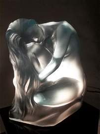 263: Rougleff Nude Lady Pate De Vera Statue Signed