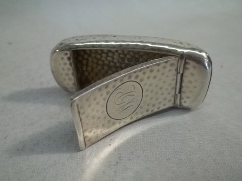 154: Nice Sterling Silver pill Box